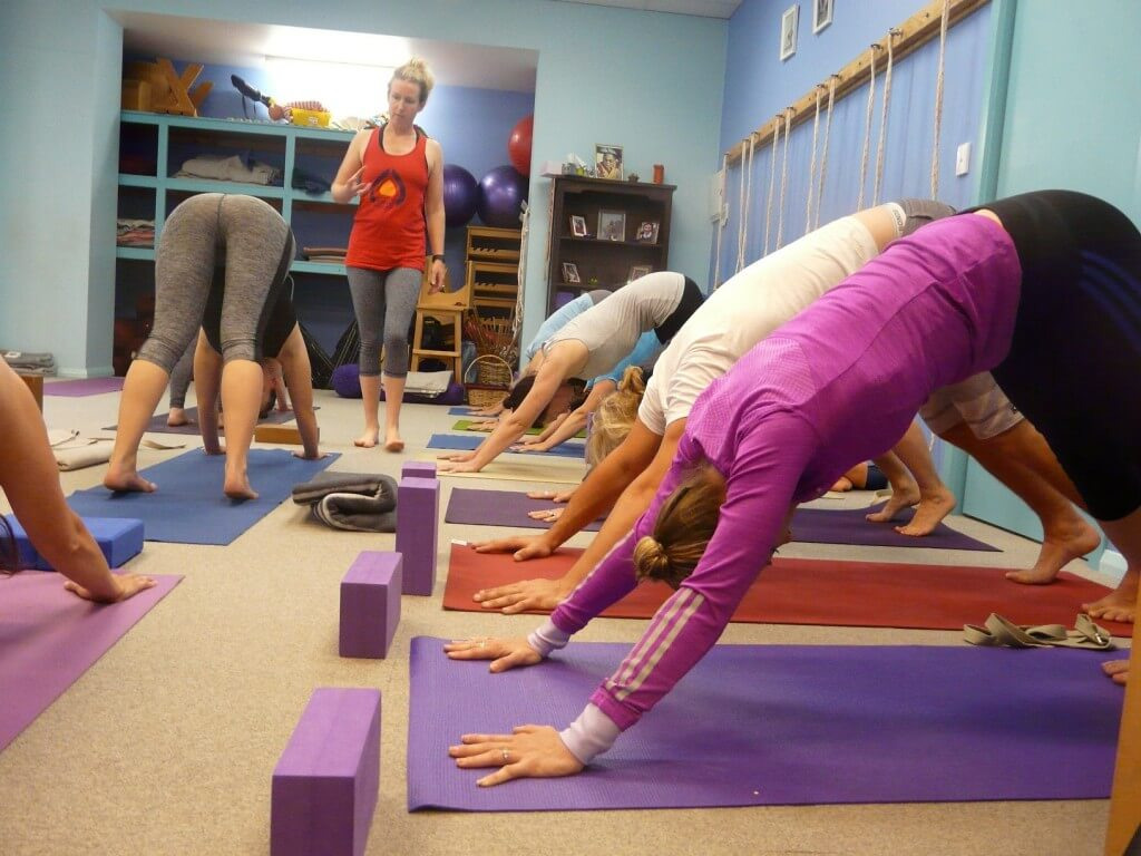 Yoga in Seacliff workshop in action